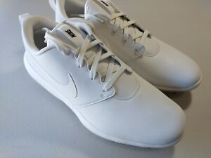 Nike Men's 11.5 Wide Roshe G Tour Triple White Golf Shoes Cleats AR5579-100 @kw1