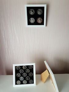 Frame-for-50-Pence-coins-Stand-Up-Back-and-Hanging-Fixtures-Coins-not-included