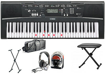 Kopfhörer und Keyboardbank Yamaha EZ-220 Keyboard Bundle II mit Ständer