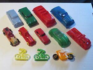 vintage plastic bonux cycle motorcycle lido plasticville marx renwal toy car lot ebay. Black Bedroom Furniture Sets. Home Design Ideas