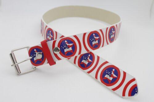 Women Men 4th July USA Flag American Texas Lone Star Fashion Classic Belt Size L