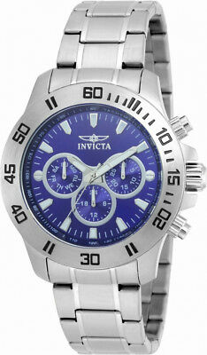 Watches, Parts & Accessories Invicta Specialty 21482 Men's Round Dark Blue Analog Day Date 12 & 24 Hr Watch Hot Sale 50-70% OFF Wristwatches