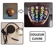 LUSTRE SUSPENSION DESIGN COULEUR CUIVRE AVEC MOTIF 3D - AMPOULE E27 LED FOURNIT