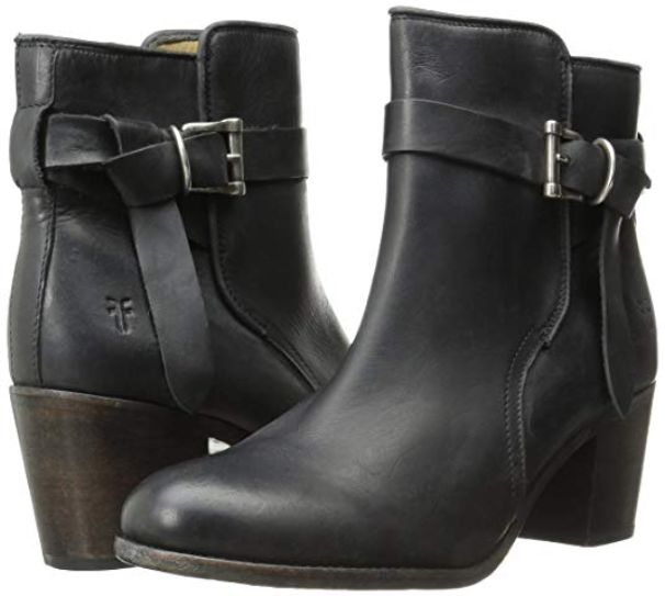 New in Box FRYE Womens Malorie Knotted Short Boots Black Size 6.5 and 7