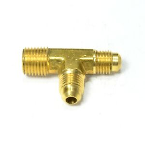 1/4 Male Sae 45 Flare to 1/4 Npt Male Run Tee Union Fitting Natural Gas Propane