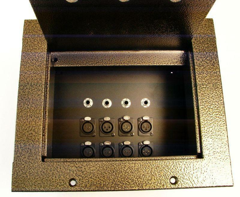 HD Plus Recessed Floor Box 8 In x 4 Out - Gold Vein