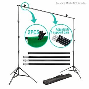 10Ft Adjust Background Support Stand Photo Video Backdrop Kit Photography OY 739328492159