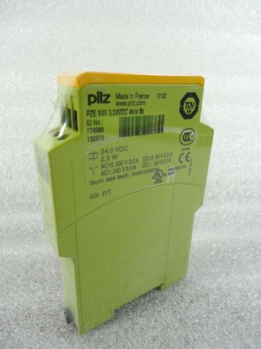 Pilz PZE X4V 3//24VDC 4n//o Fix Safety Relay 774583 Expansion Relay