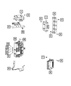 Genuine MOPAR Power Inverter Module Export 56029583AC