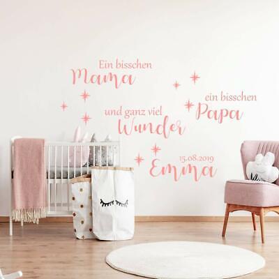 Wall Decals Stickers Madchen Junge Baby Wandtattoo Aa312 Kinderzimmer Spruch Ein Bisschen Mama Athena Com Pe