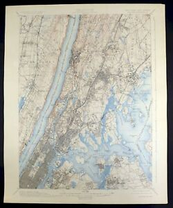 Map Of New York Harlem.1900 Harlem New York New Jersey New York Vintage Usgs Topographic