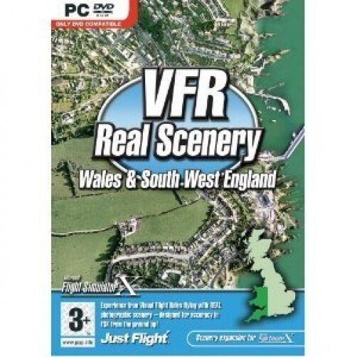 VFR Real Scenery VOL 3 Wales and South West England (PC DVD) NEW SEALED