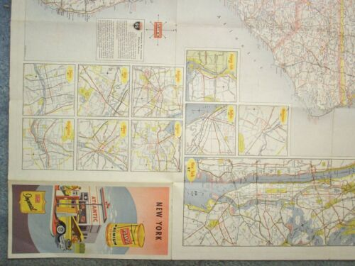 1959 NEW YORK ROAD MAP ATLANTIC IMPERIAL THE ATLANTIC REFINING COMPANY