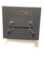 Nadri Semiprecious Stone Drop Back Earrings 925 Silver -gold Plate