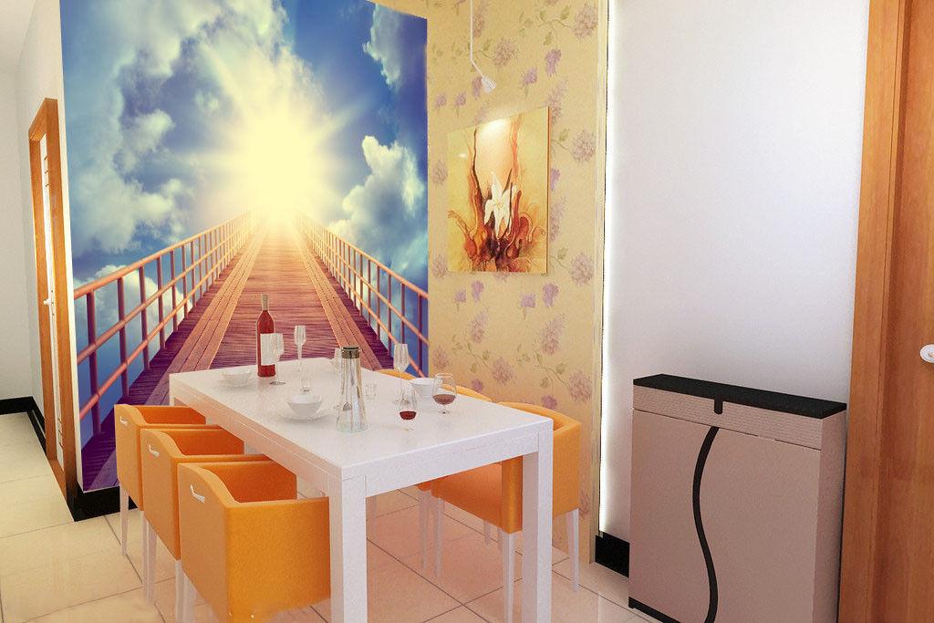 Papel Pintado Mural De Vellón Cielo Sol Escaleras 3 Fondo Paisaje Fondo 3 De Pantalla ES c705e7
