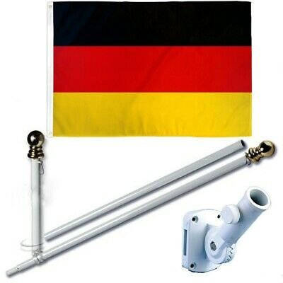 Goed Germany 3 X 5 Ft Flag Set W/ 6-ft Spinning Flag Pole + Bracket (tangle Free) Uitgebreide Selectie;