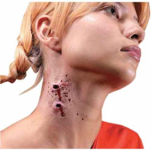 Unholy Bite Mark Vampire Teeth Wound Halloween Costume Makeup Latex Prosthetic