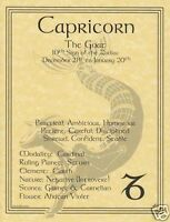 Capricorn (Zodiac) Parchment Page for Book of Shadows!