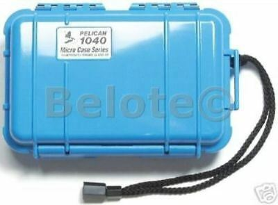 Pelican Micro Case Blue Clear 1040 New 7.5 x 5 x  2.1