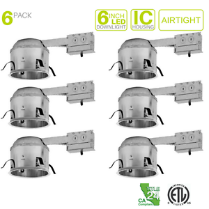 6 shallow remodel led recessed lighting line voltage ic