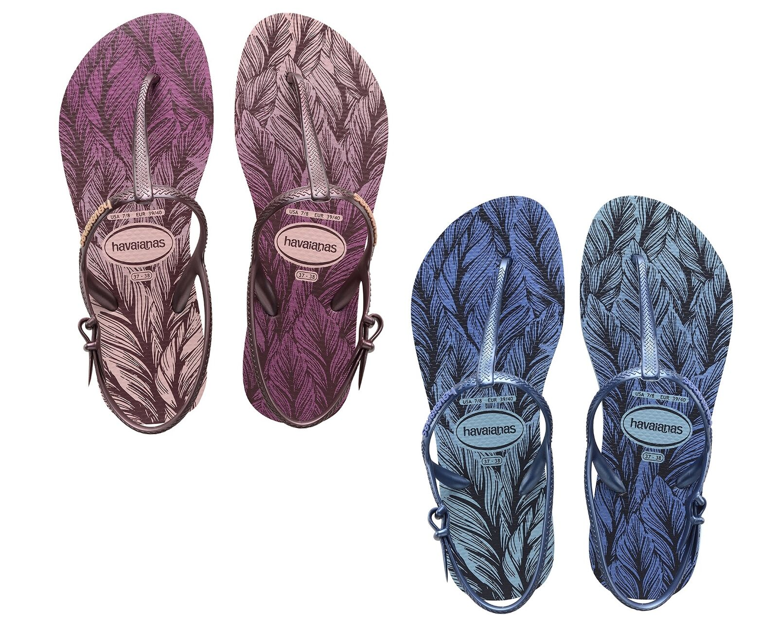 WOMENS HAVAIANAS  FREEDOM PRINT  SANDALS. 2 Colours