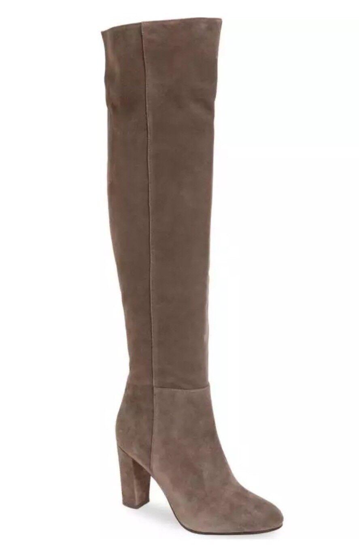 Halogen Noble grigio Sue Leather Over The Gine stivali  SZ 9.5 NUOVO  180  punto vendita