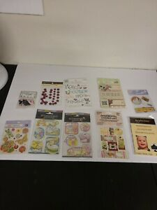 Lot-of-Scrap-booking-Supplies-All-New-Sealed-Corners-Garnitures-Stickers-Etc