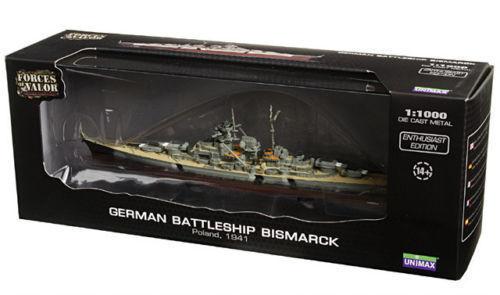 Forces of Valor 1 1000 86011 WWII German battleship Bismarck Poland 1941