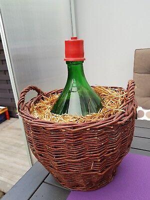 Bauer Sammlung Hier Korbflasche Weinflasche Mit Rattan Korb 10l Bodenfund 100% Hochwertige Materialien Gefäße