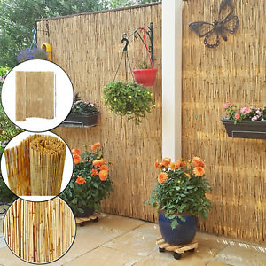 Image Is Loading 4M PEELED BAMBOO NATURAL FENCE GARDEN SCREENING PRIVACY