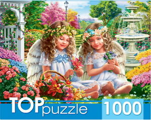"Puzzles 1000 pieces 68.5*48.5cm. ""Two gentle angels"". Red Cat ХТП1000-2176."