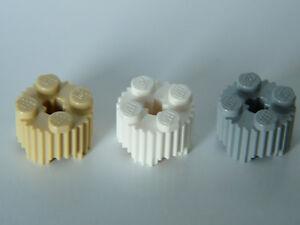 Lego ® Lot x2 Brique Ronde Striée 1x2 Brick Round with Grille Choose Color 92947