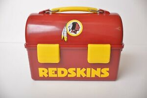 ICE-MAN-Redskins-NFL-Thick-Plastic-Lunchbox-pail-with-Ice-pack-no-straps