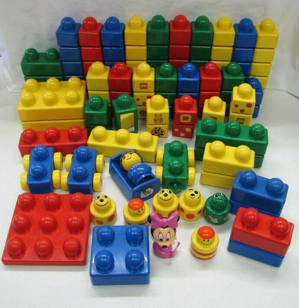 Lego Duplo Primo bebé Bloques Gran Lote 114 piezas bases coches cama de minnie mouse