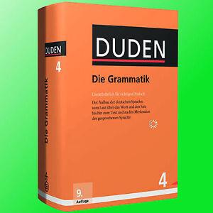 Duden 4 Die Grammatik 9 Auflage 2016 Aufbau Der Deutschen