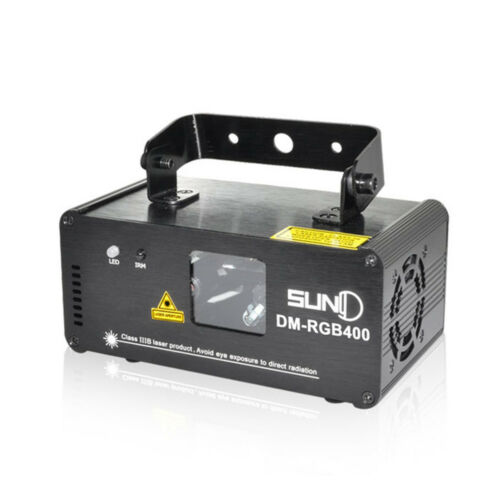 DM-RGB400 SUNY DMX 400mW RGB Laser Effekt Beam Licht Party Lamp Fernbedienung DE