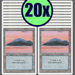 20x ISLAND Revised Same Art Basic Land NM/LP MTG Magic the Gathering