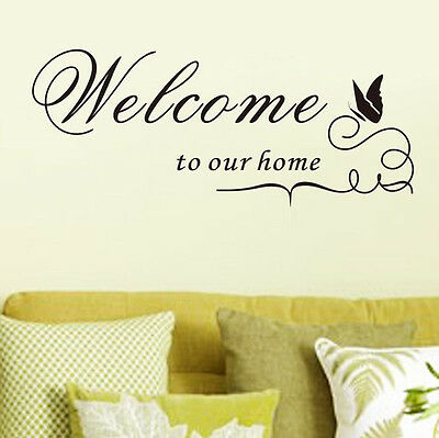 Hot Sale Welcome To Our Home Quote Removable Vinyl Decal Wall Stickers Art Room