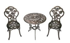 OpenBox Oakland Living 3-Piece Rose Bistro Set with 23.5-Inch Cast aluminum Top