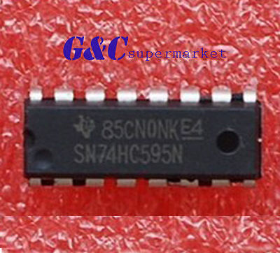 50PCS IC 74HC595 74595 SN74HC595N 8-Bit Shift Register DIP-16 GOOD QUALITY Z27