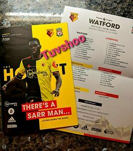 Watford-v-Liverpool-LIMITED-Programme-with-official-teamsheet-29-02-20-RARE