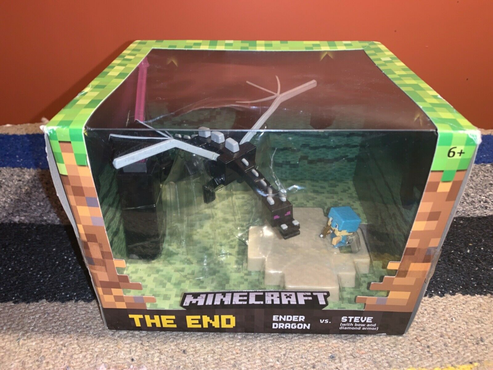 Minecraft The Ender Dragon Vs Steve Figure Djy38 For Sale Online Ebay Want to discover art related to enderdragon? 2015 minecraft the end ender dragon vs steve new toy