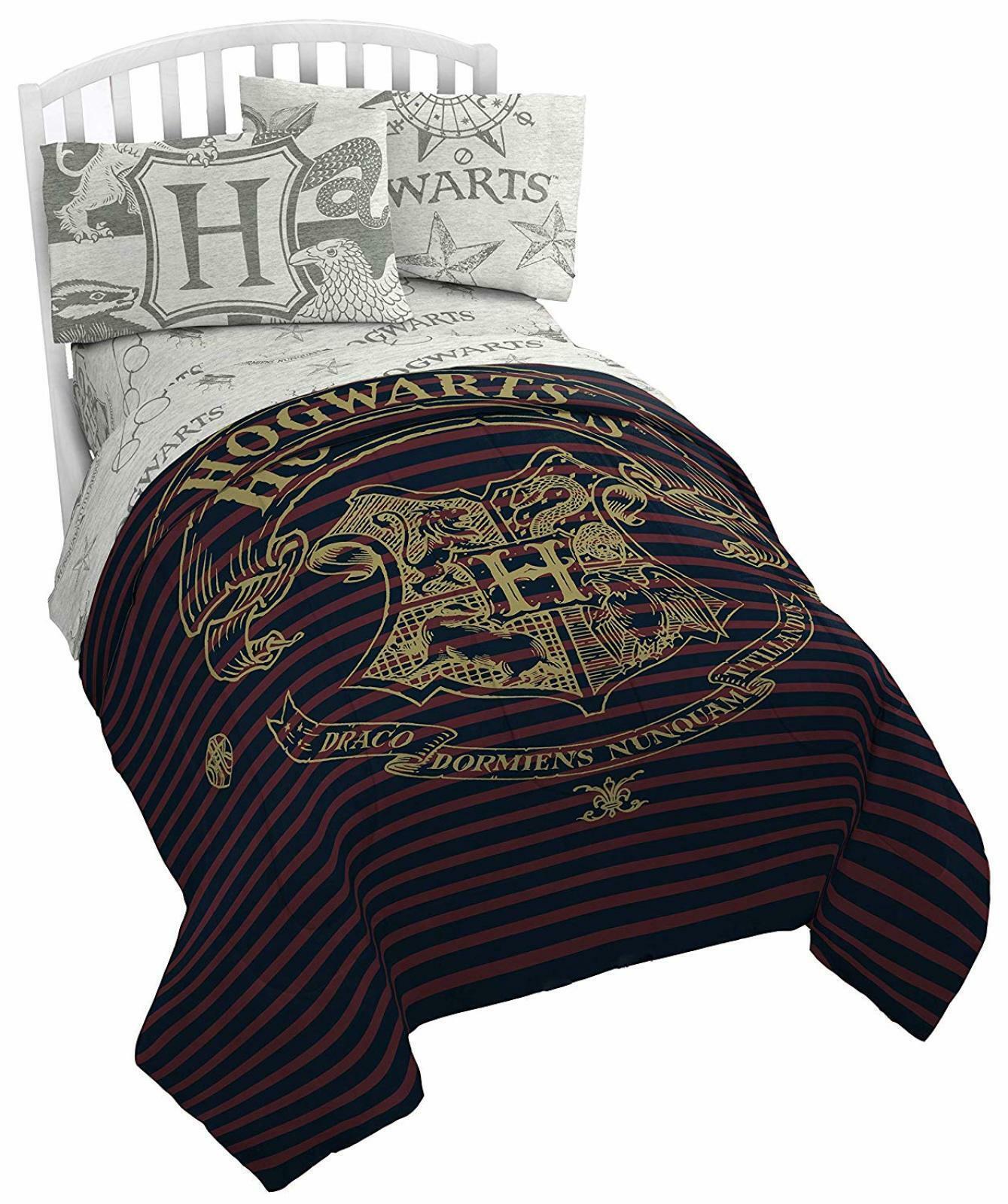 Harry Potter Spellbound Full Bed Set Reversible Comforter & Sheets Sheets Sheets Hogwarts 5Pc ba225f
