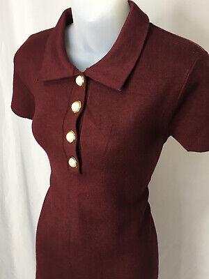 Red Pearl Knit Dress