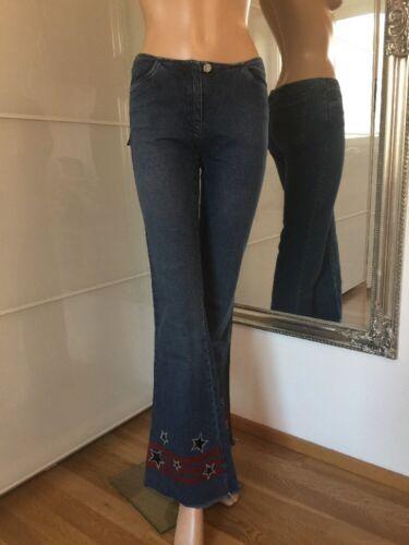 Mogul colpo Jeans Pantaloni Taglia 27 jovaline stelle blu used DENIM NUOVO CON ETICHETTA