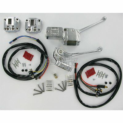 Chrome Handlebar Control Kit Switches Harley Shovelhead Ironhead Sportster 73-81