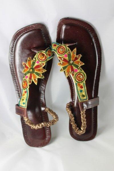 Sandalias preciosas mano hecha hecha hecha a mano Mujer Damas Sandalias de gastos de envío gratis  mejor servicio