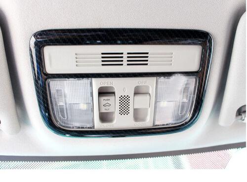 Carbon Fiber Inner Reading  Light Lamp Trim Cover For Honda Civic 10th 2016 2017