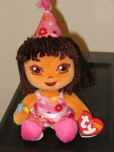 Ty Beanie Baby Dora Happy Birthday New Mint With