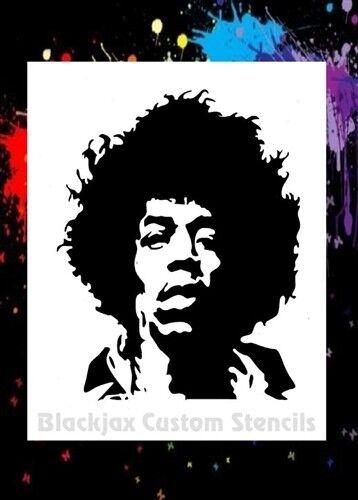Jimi Hendrix Airbrush Stencil Template 15x12 Inch For Sale Online Ebay